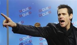"""<p>Jim Carrey na festa de lançamento do filme """"Yes Man"""" em Madri, dezembro de 2008. REUTERS/Susana Vera</p>"""