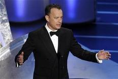 <p>Actor Tom Hanks presents the Oscar for best documentary short subject during the 80th annual Academy Awards in Hollywood, February 24, 2008. REUTERS/Gary Hershorn</p>