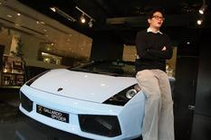 <p>Max Cheng, Brand Manager of Lamborghini Hong Kong, poses for a photo during an interview in this December 16, 2008 photo. REUTERS/Woody Wu</p>