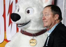 """<p>Realidade e ficção confundem-se na cabeça de Bolt, o cãozinho-protagonista da animação """"Bolt-Supercão"""", que estréia em cópias dubladas e legendadas e também em algumas salas 3D. REUTERS/Fred Prouser</p>"""