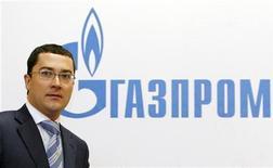 <p>Официальный представитель Газпрома Сергей Куприянов на пресс-конференции в Москве 4 марта 2008 года. Газпром обвинил в воскресенье Украину в несанкционированном отборе 50 миллионов кубометров газа, предназначенных для европейских потребителей. REUTERS/Denis Sinyakov</p>
