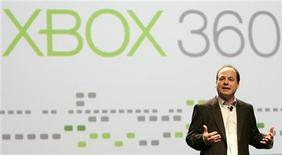 <p>Una presentazione di Microsoft. REUTERS/Robert Galbraith</p>