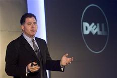 <p>Le patron de Dell, Michael Dell. Le groupe américain Dell va délocaliser des activités de production de systèmes informatiques depuis l'Irlande vers la Pologne, une décision qui entraînera la suppression de 1.900 emplois environ sur 3.000 sur son site irlandais de Limerick. /Photo prise le 22 octobre 2008/REUTERS/Nir Elias</p>