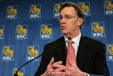 <p>Gordon Nixon, President and CEO of the Royal Bank of Canada, speaks at a news conference after the Royal Bank of Canada Annual General Meeting in Toronto in this March 2, 2007 file photo. REUTERS/Mark Blinch</p>