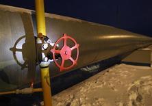<p>Труба и вентиль на газовой компрессорной станции в Судже, Курская область 11 января 2009 года. Газпром во вторник возобновил поставки природного газа в Европу по территории Украины. REUTERS/Gleb Garanich</p>