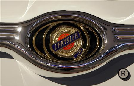 The Chrysler logo is seen at the North American International Auto Show in Detroit, Michigan in this January 13, 2009 file photo. REUTERS/Rebecca Cook