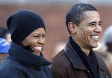 <p>Il presidente eletto degli Stati Uniti Barack Obama e sua moglie Michelle. REUTERS/John Gress (UNITED STATES)</p>