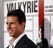 """<p>O astro Tom Cruise posa em première do filme """"Operação Valquíria"""". Durante uma visita à Seul para promover o longa, Tom Cruise disse que cresceu com a vontade de matar Hitler. REUTERS/Mario Anzuoni</p>"""