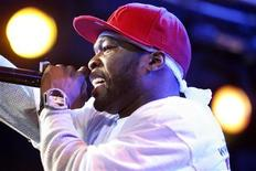 <p>Rap artist 50 Cent performs at Tao during the 2008 Sundance Film Festival in Park City, Utah January 19, 2008. REUTERS/Mario Anzuoni</p>