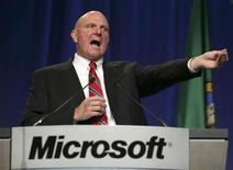 <p>Steve Ballmer, AD di Microsoft. REUTERS/Marcus R. Donner (UNITED STATES)</p>