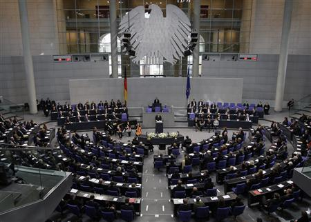 German President Horst Koehler delivers a speech during a commemoration service for the victims of national socialism at the Reichstag building, seat of the German lower house of Parliament Bundestag, in Berlin, January 27, 2009. REUTERS/Tobias Schwarz