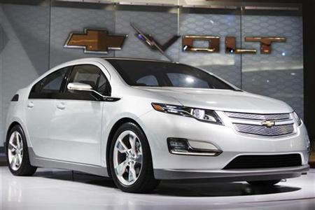 The Chevrolet Volt electric car is seen during the North American International Auto Show in Detroit, Michigan January 13, 2009. REUTERS/Mark Blinch