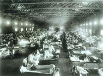 <p>An emergency hospital at Camp Funston, Kansas, for soldiers sickened by the 1918 flu. REUTERS/National Museum of Health and Medicine/Armed Forces Institute of Pathology/Handout</p>
