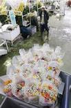 <p>Un trabajador se coloca detrás de unos arreglos florales en Cayambe, Ecuador, 10 feb 2009. Millones de flores ecuatorianas, desde claveles hasta las míticas rosas rojas, quedaron fuera de la celebración de San Valentín porque Estados Unidos, su mayor comprador, redujo la demanda por la recesión económica, convirtiendo al 2009 en el peor año de ventas para el país. REUTERS/Guillermo Granja (ECUADOR)</p>