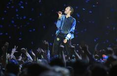 <p>Chris Martin, do Coldplay, se apresenta durante entrega dos prêmios BRIT, em Londres. REUTERS/Dylan Martinez</p>