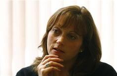 <p>Jaeger CEO Belinda Earl speaks during an interview with Reuters in central London February 5, 2008. REUTERS/Alessia Pierdomenico</p>