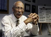 <p>Former Detroit Pistons star Dave Bing is seen in his office in Detroit, February 13, 2009. REUTERS/Rebecca Cook</p>