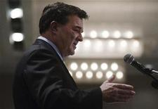 <p>Canadian Finance Minister Jim Flaherty speaks to students of the business community in Toronto, February 6, 2009. REUTERS/Mark Blinch</p>