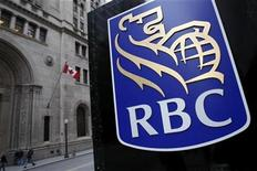 <p>A Royal Bank of Canada (RBC) logo is seen at a branch in Toronto November 9, 2007. REUTERS/Mark Blinch</p>