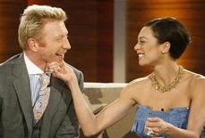 "<p>Former German tennis player Boris Becker (L) and Lilly Kerssenberg attend the television show ""Wetten Dass..?"" (Bet it..?) in the western German city of Duesseldorf February 28, 2009. REUTERS/Ina Fassbender</p>"