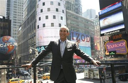 Thomson Reuters Chief Executive Officer Tom Glocer poses in Times Square in a file photo. REUTERS/Gary Hershorn
