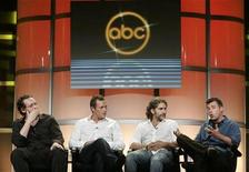 "<p>The cast and executive producers of the new series ""Life On Mars"" (L-R) executive producer Josh Appelbaum, Irish born actor Jason O'Mara, actor Michael Imperioli and executive producer Andre Nemec take part in a panel discussion at the Disney ABC Television Group summer press tour in Beverly Hills, California July 16, 2008. REUTERS/Fred Prouser</p>"