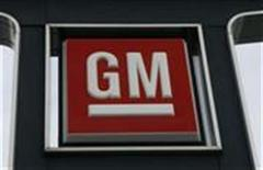 <p>A General Motors logo is seen at a car dealership in Toronto in this file photo from December 12, 2008. REUTERS/Mike Cassese</p>