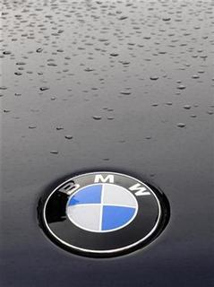 The logo of a BMW car is seen in central London February 16, 2009. REUTERS/Toby Melville