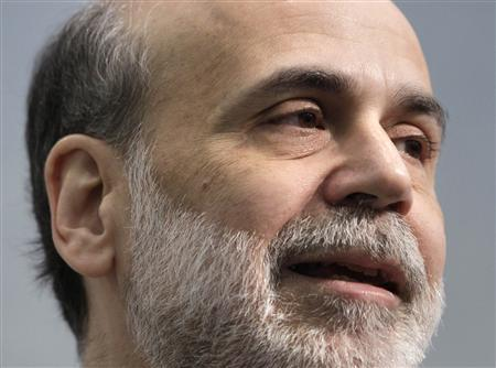 U.S. Federal Reserve Chairman Ben Bernanke speaks at the Council on Foreign Relations in Washington March 10, 2009. Bernanke said on Tuesday that he did not favor suspending mark-to-market financial accounting, but understood the problem of valuing assets in highly disrupted markets. REUTERS/Yuri Gripas
