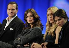 "<p>(L-R) Actors Bill Paxton, Jeanne Tripplehorn, Chloe Sevigny and Ginnifer Goodwin answer questions during the panel for HBO's series ""Big Love"" at the Television Critics Association winter press tour in Los Angeles in this January 9, 2009 file photo. REUTERS/Phil McCarten/Files</p>"