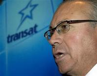 <p>Jean-Marc Eustache, chief executive officer of Transat A.T. Inc., speaks after an annual general meeting in Montreal March 15, 2006. REUTERS/Christinne Muschi</p>