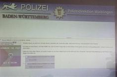 <p>Imagen de una presentación que muestra un sitio de internet donde el adolescente que protagonizó el tiroteo del colegio Abertville-Realschule publicó sus intenciones, en Waiblingen, 12 mar 2009. El adolescente que mató a 15 personas en un tiroteo en el suroeste de Alemania el miércoles advirtió de sus planes a un compañero de chat la noche anterior a los asesinatos, dijo un funcionario alemán. REUTERS/Michael Dalder</p>