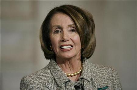 U.S. Speaker of the House Nancy Pelosi attends a news conference in Rome February 17, 2009. REUTERS/Alessia Pierdomenico