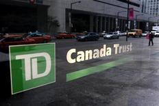 <p>A view of a branch of a TD Canada Trust bank in Toronto November 9, 2007. REUTERS/Mark Blinch</p>