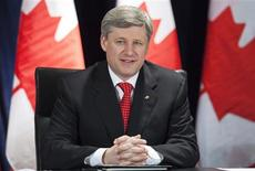<p>Prime Minister Stephen Harper sits in on a roundtable for an Economic Action Plan for Small Business in Toronto March 18, 2009. REUTERS/Mark Blinch</p>