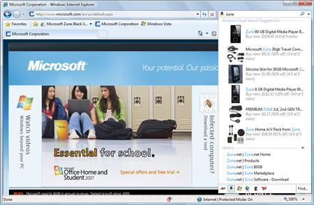 A screenshot of Internet Explorer 8 is shown in this undated handout image. REUTERS/Microsoft