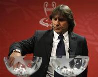 <p>Bruno Conti ai sorteggi per i quarti di finale di Champions League a Nyon, Svizzera. REUTERS/Denis Balibouse</p>