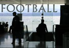 <p>La sede della Uefa a Nyon, Svizzera. REUTERS/Denis Balibouse</p>