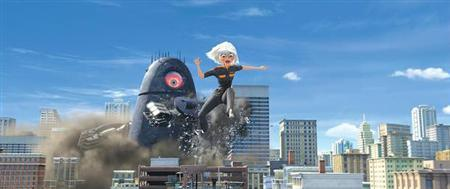 A scene from ''Monsters vs. Aliens,'' the first of DreamWorks Animation's promised rollout of nothing but 3-D movies. REUTERS/DreamWorks/Handout