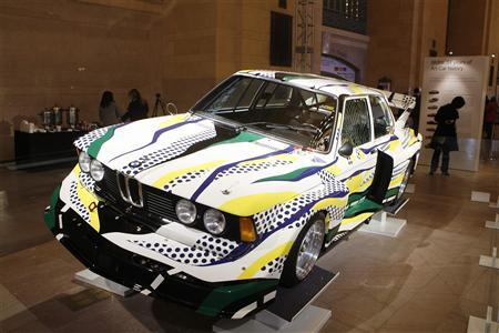 A car decorated by Roy Lichtenstein in 1977 can be seen in Grand Central Station in New York March 24, 2009. REUTERS/Lucas Jackson