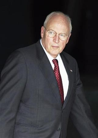 Dick Cheney leaves George Washington University Hospital after undergoing a procedure to correct an abnormal heartbeat in Washington, October 15, 2008. REUTERS/Mitch Dumke