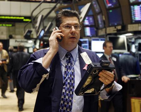 A trader works on the floor of the New York Stock Exchange, March 30, 2009. REUTERS/Shannon Stapleton