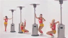 <p>A scene from a 1980s style music video to promote Energy Wasting Day 2009. The April Fool's Day spoof video is designed to promote awareness on climate change. REUTERS/The Climate Group/Handout</p>