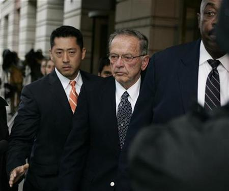 Former Republican Senator Ted Stevens of Alaska departs the Federal Courthouse in Washington, October 27, 2008. REUTERS/Hyungwon Kang