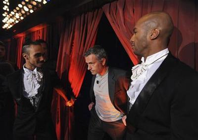 Mourinho on set