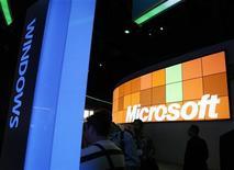 <p>Il logo di Microsoft. REUTERS/Rick Wilking</p>