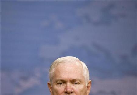 Secretary of Defense Robert Gates during a news conference at the Pentagon, December 2, 2008. REUTERS/Larry Downing