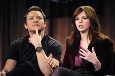 "<p>Cast members Jeremy Renner (L) and Amber Tamblyn answer questions during the panel for the ABC series ""The Unusuals"" at the Television Critics Association winter press tour in Los Angeles January 16, 2009. REUTERS/Phil McCarten</p>"