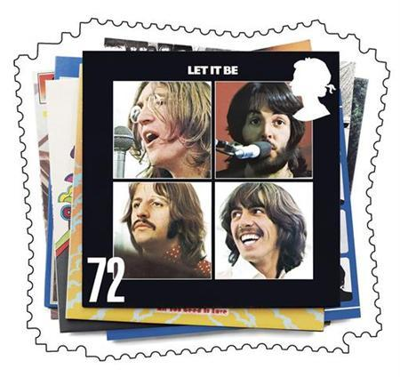 ''Let It Be,'' one of the six Beatles album covers which appeared on the first set of special stamps issued on January 9, 2007, is seen in this handout picture. The original Beatles catalogue has been digitally remastered for the first time and will go on sale in CD format on September 9, the band's record label and company announced Tuesday. REUTERS/Royal Mail/Handout
