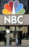 <p>The entrance to offices of television network NBC in Burbank, California, on August 25, 2003. REUTERS/Fred Prouser</p>
